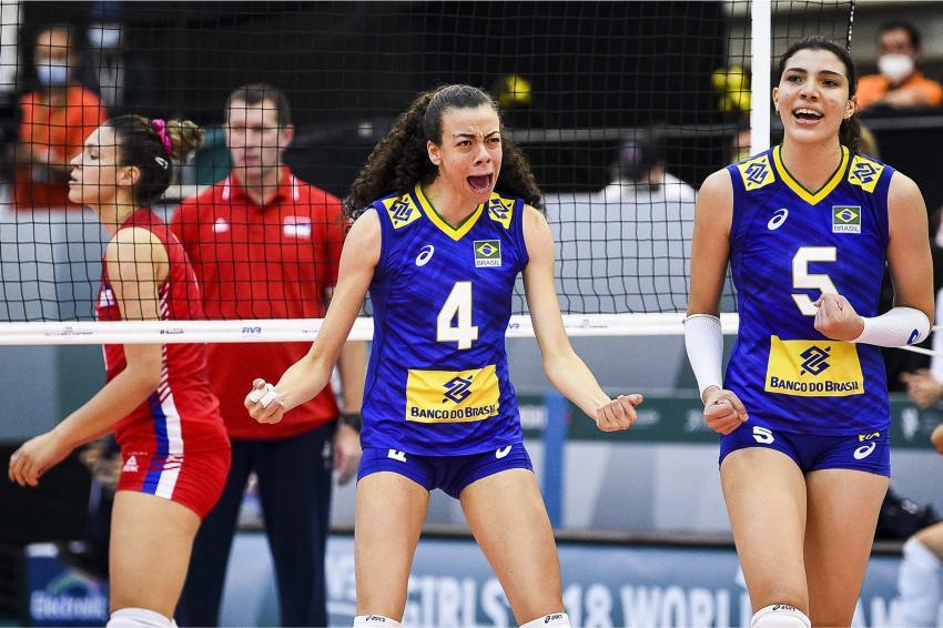 Capa da notícia - Mundial Sub-18: brasileiras perdem e vão disputar quinto lugar