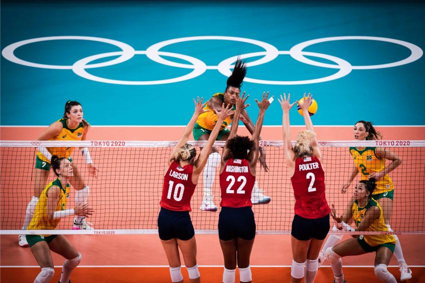 Capa da notícia - Tóquio: com autoridade, EUA vencem o Brasil e conquistam o ouro pela primeira vez