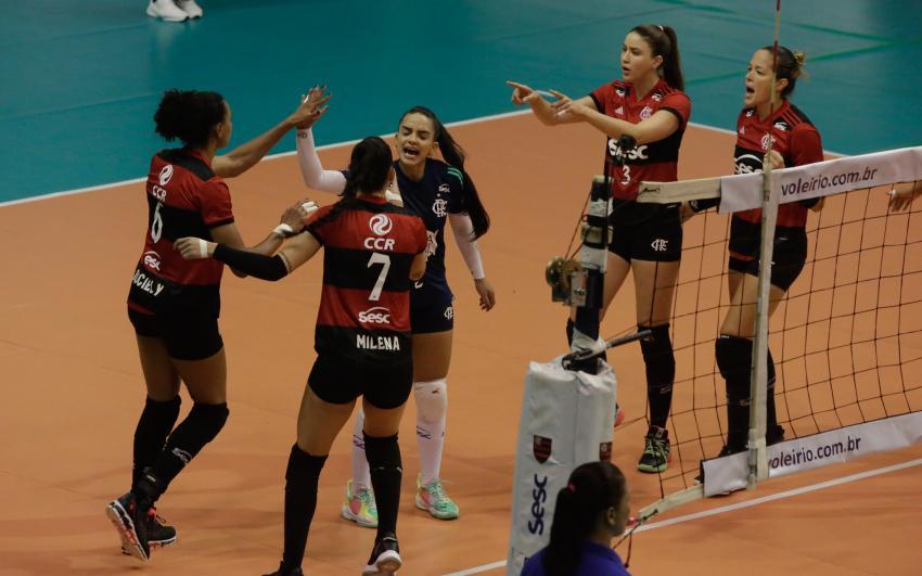Capa da notícia - No super set, Sesc RJ Flamengo conquista o Carioca