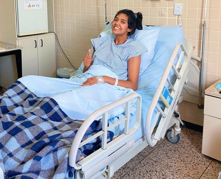 Capa da notícia - Samara Rodrigues passa por cirurgia no joelho