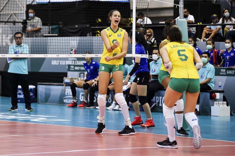 Capa da notícia - Brasil vence Tailândia está nas quartas do Mundial Sub-18
