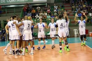 Com um time jovem, Minas foi aos playoffs entre os quatro melhores (Foto: Orlando Bento/Minas)
